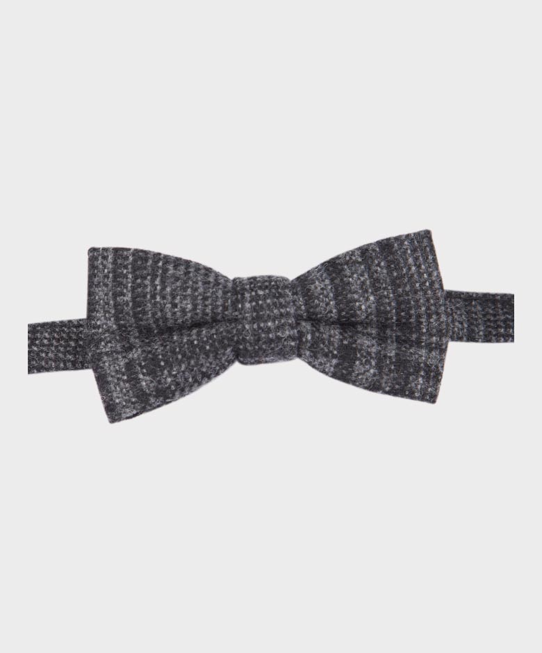 Mens /& Boys Matching Tweed Check Dickie Bow Tie