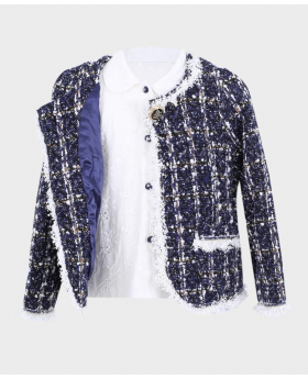 Tweed Jacket with embroidered shirt