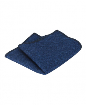 Mens & Boys Herringbone Tweed Pocket Handkerchief in Navy Blue  Side picture