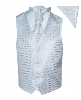 Boys Cream / Ivory Wedding Waistcoat Cravat Prom Communion
