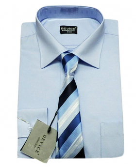 Page Boy Baby Blue Shirt and Tie Set
