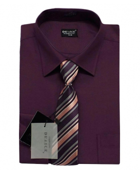 Page Boy Plum Shirt and Tie Set