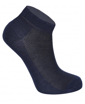Kids Unisex Stretch Cotton Ankle Casual Socks in Navy Blue