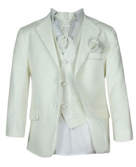 Boys All in one Ivory Communion Suit