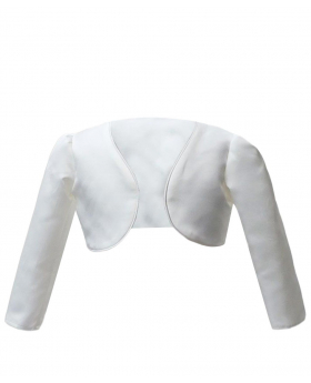 Front view of the Long Sleeves Bolero for Girls in Ivory