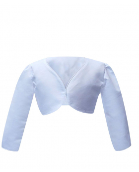 Front view of the Long Sleeves Bolero for Girls in White