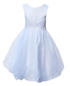 Baby Girls White Flower Girl Dresses Pageant Party Christening Dress