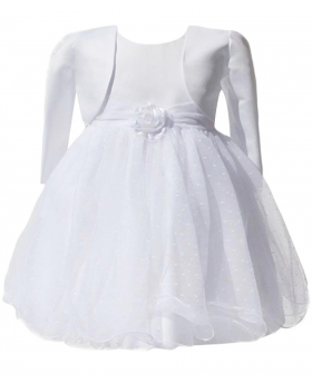 Baby Girls White Bolero Dress