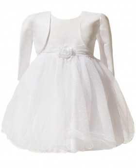 Baby Girls Ivory Bolero Wedding Bridesmaid Christening Dresses 0 to 24 Months