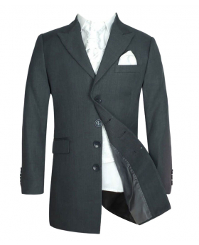 Boys Charcoal Grey & Ivory Sebastian Le Blanc Prince Edward Tail Suit Set