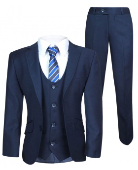 View of the Boys Navy Blue Tailored Fit Suit and trouser