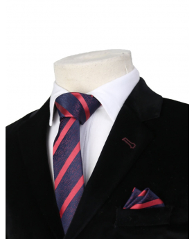 Boys Striped Neckties Kids Formal Ties In Navy And Red