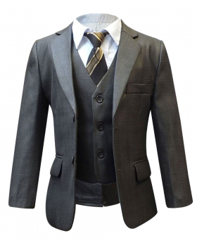 Boys Brown 5PC Page Boy Suit Wedding, Party, Prom, Suit By Milano