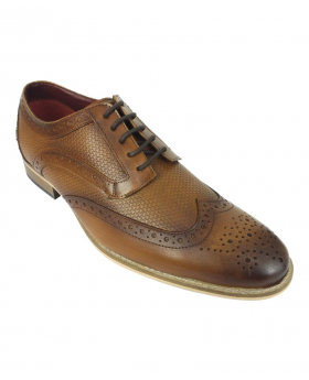 Men's Signature Brown Lace up Leather Oxford Shoes