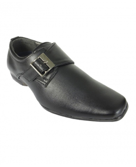 Robert Simon Boys Black Buckle Fastening Formal Shoes
