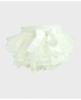 Baby Girl Lace Knickers in ivory Side Details