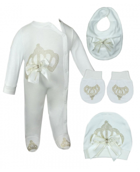 4 PC Baby Ivory & Gold Growers Set