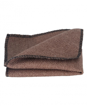 Folded view of the Mens & Boys Herringbone Tweed Hanky in Tan Brown