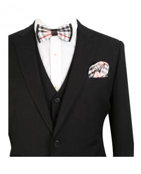 Mens & Boys Suit Slim Fit Black Business Set