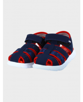 Baby Boys Outdoor Summer Sandals in Navy Blue  pair side picture