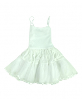 Baby Girl Ballerina Petticoat Cotton dress in White