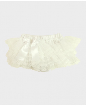 Baby Girl Lace Knickers in White