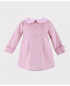 Baby Girls Herringbone Coat Front Picture