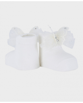 Baby Sock Wedding Communion Accessories Set in Ivory Pair