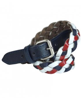 View of the Belt for Boys Plaited Multicolor