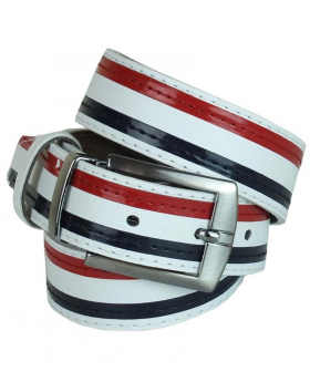 Boys Faux Leather Stripe Multicolor Belt