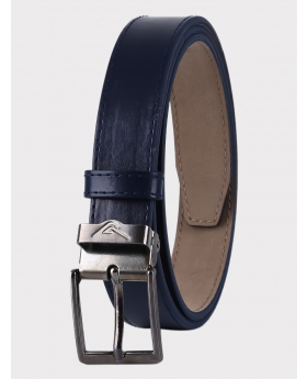 Boys Adjustable Matt Navy Faux Leather Belt front picture