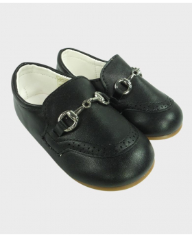 Boys Black  Formal Special Occasion Shoes Side image