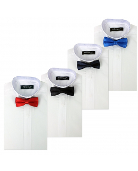 Boys Wing Collar White Shirts & Bow Tie, Kids Tuxedo Suit shirt, Prom, Wedding, Party