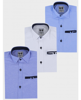 Boys Casual Oxford Cotton Slim Fit Long Sleeve Shirt multi-front picture