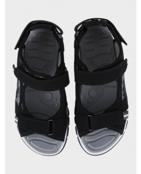 Boys Casual Sport Open Toe Sandals in Black pair front picture