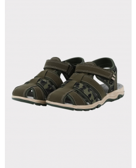 Boys Casual Trekking Sandals in Green side picture