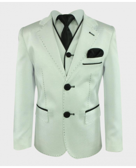 Boys Communion Suit in White 3 Piece Front Picture