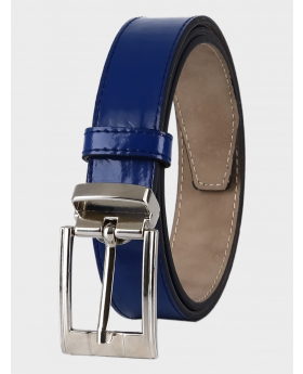 Boys Faux Leather Patent Navy Belt front picture