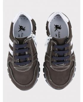 Boys Genuine Leather Casual Shoes in Brown pair picture