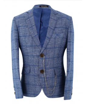 Boys Herringbone Check Slim Fit Jacket front picture
