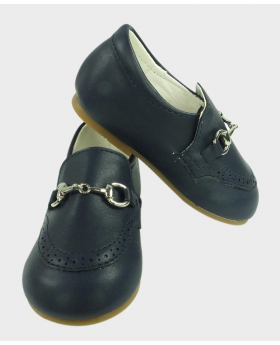 Boys Navy Formal Special Occasion Shoes Pair