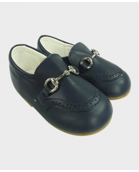 Boys Navy Formal Special Occasion Shoes Side image