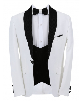 Boys Page Boy CommunionTuxedo Slim Fit Tuxedo jacket and double-breasted waistcoat with accessories front picture