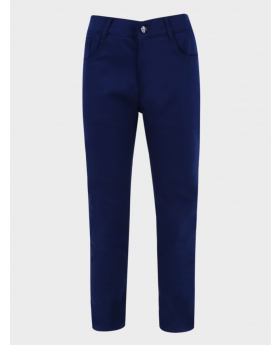 Boys Parliament Blue Casual Stretch Chino Pants front picture