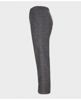 Boys Tailored Fit Charcoal Grey Tweed Check Suit Trousers-side