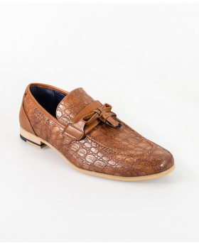 Men's Brindisi Moccasins Loafers Leather Shoes in Light Brown