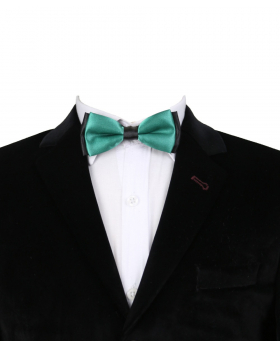 Boys Classic Neck Strap Adjustable Solid Green Bow Ties