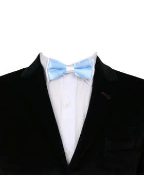 Boys Pre-tied Adjustable Neck Strap Kids Bowtie  In Sky Blue and White