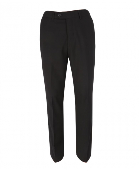 Front view of the Mens Slim Fit Formal Black Stretch Trousers
