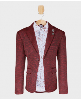 Doctor Junior Boys Burgundy Slim Fit Casual Dress Suit Blazer Jacket